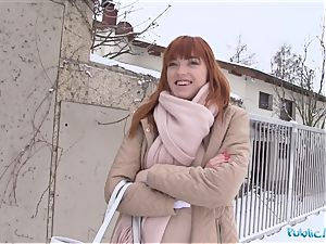 Public Agent German red-haired Anny Aurora likes jizz-shotgun