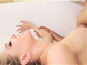 Kagney Linn Karter banged in the booty doggystyle by yam-sized lubed up man rod