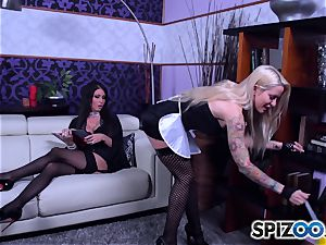super-steamy maids Jessica Jaymes and Helly Mae Hellfire